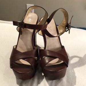 Aldo block heels with buckle